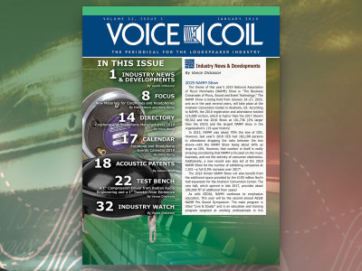 Voice Coil January 2019 is Here and Ready for Another Year!
