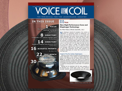 Get the Latest on Cone and Diaphragm Technology with Voice Coil February