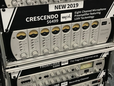 SPL of Germany Ships Crescendo 8-Channel Microphone Preamp Featuring 120V Technology