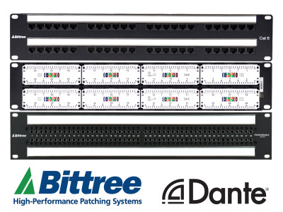 Bittree Announces World's First Dante Network-Enabled Patchbay