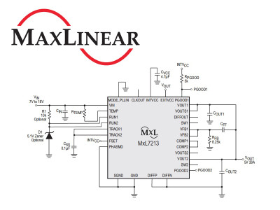 MaxLinear Introduces New MxL7213 Highest Output Switch Mode DC/DC Dual 13A Power Module