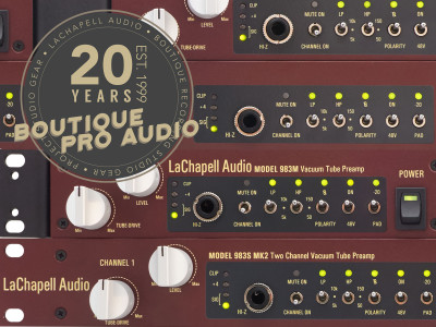 LaChapell Audio Celebrates 20 Years with New 983 Tube Preamps