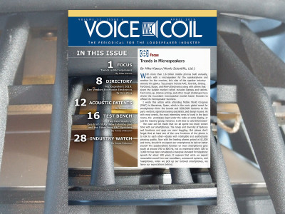 Large Speakers, Microspeakers, and Many Speakers in Voice Coil April 2019!