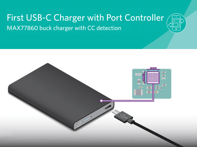 Maxim Announces Highly Integrated USB-C Buck Charger Reducing Size by 30%