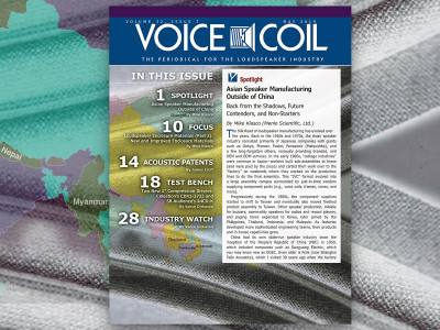 Designing and Manufacturing Loudspeakers? Voice Coil May 2019 is Now Available!
