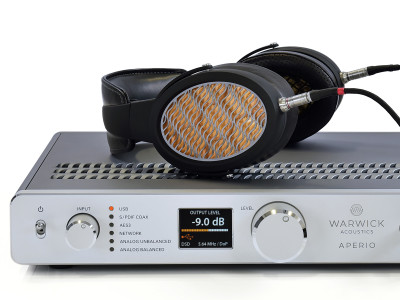 Warwick Acoustics Introduces APERIO Flagship Electrostatic Headphone System