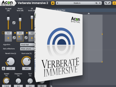 Acon Digital Verberate Immersive 2 Reverb Algorithm Now Supports Immersive Formats