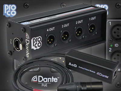 ProCo Sound to Showcase New Dante-Enabled PoE Modules and Wall-Plates at Infocomm 2019