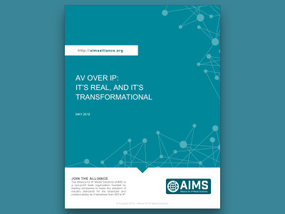 AIMS Releases New Positioning Paper Focusing on Open IP Interoperability Standards for Pro AV