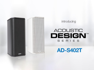 QSC Expands AcousticDesign Series with New AD-S402T Column Speaker