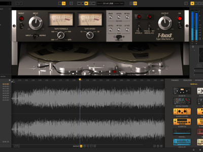 IK Multimedia New T-RackS Tape Machine Plug-In Collection Recreates Four Classic Tape Machines