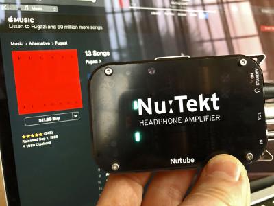 "The Nu:Tekt HA-K1 ""Tube"" Headphone Amplifier by Korg NuTube"