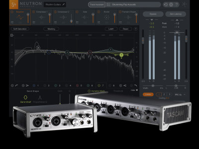 TASCAM Includes Free Full Version of iZotope Neutron Elements with Series 102i and 208i Audio/MIDI Interfaces