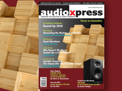 Focus on Acoustics, Speakers, and More in audioXpress August 2019!