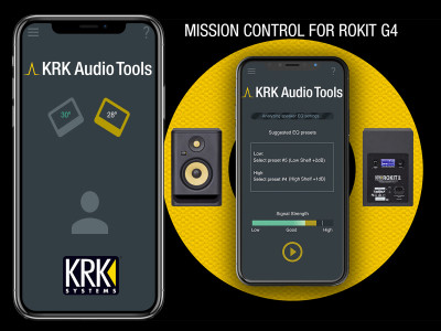 KRK Systems Launches Audio Tools App for Studio Monitor Setup