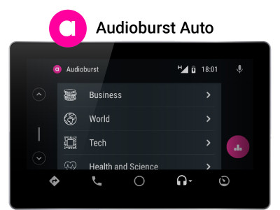 Audioburst Launches  Real-Time Talk-Audio App for Android Auto Platform