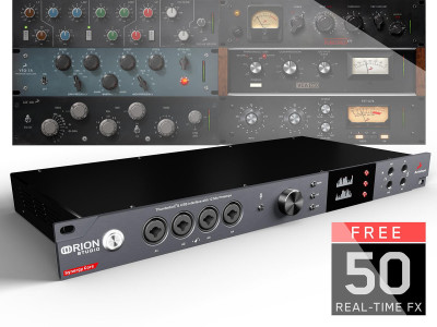 Antelope Audio Announces Orion Studio Synergy Core Thunderbolt 3 Audio Interface and Effects Processor
