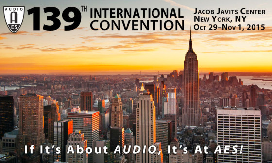 Upcoming 139th AES International Convention in New York City