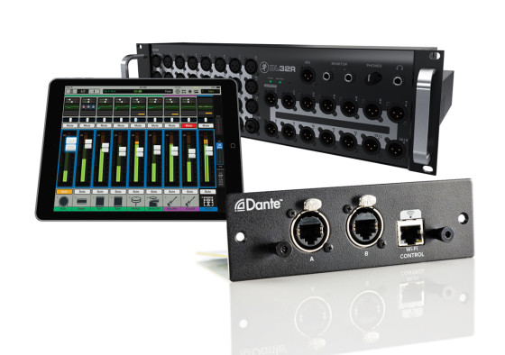Mackie And Audinate Announce Dante Expansion Card For DL32R Mixer