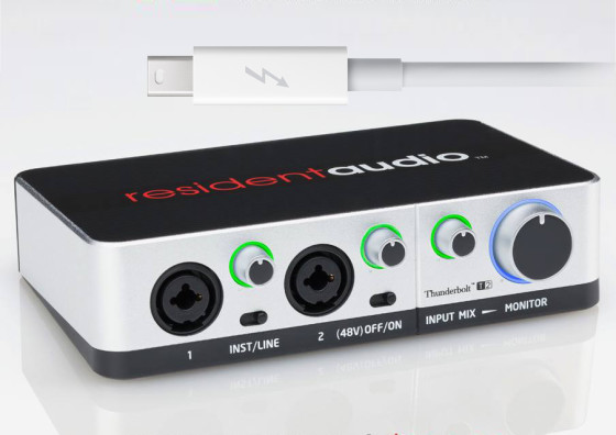 Poddi Personal Audio Interface : Resident audio thunderbolt t interface now