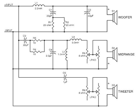 JBL L300 Modification | audioXpress Jbl Crossover Wiring Diagram on