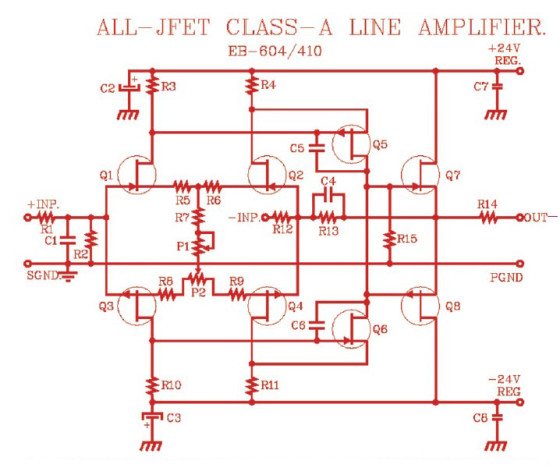 EB-604/410 All-JFET Line Amp Starter Kit | audioXpress