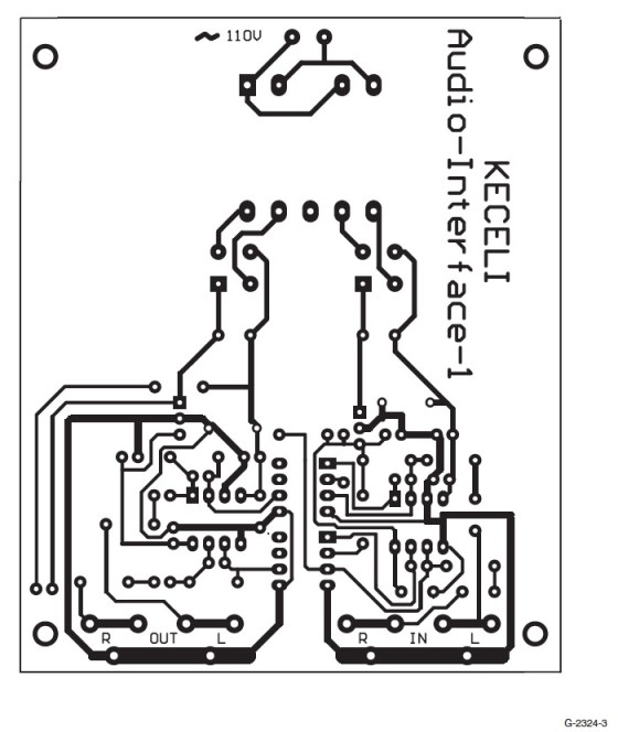 audio optical isolation audioxpress Installation Wiring Diagrams figure 3 the pcb is a single sided board soldering side transformer fitted circuit
