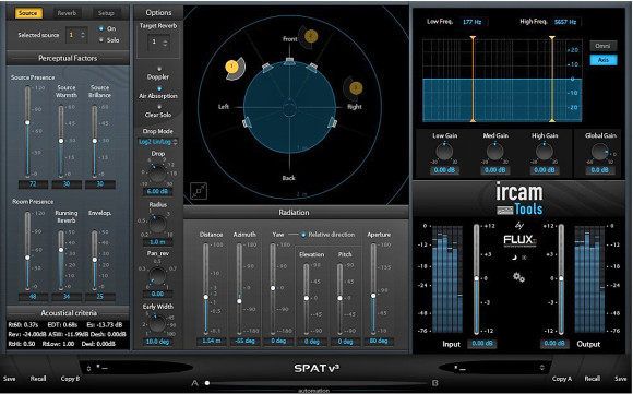 Flux Releases Positional Audio Plug-In IRCAM SPAT v3 for AAX