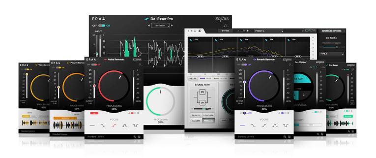 Accusonus Launches Enhanced ERA 4 Audio Repair Plug-In Bundles