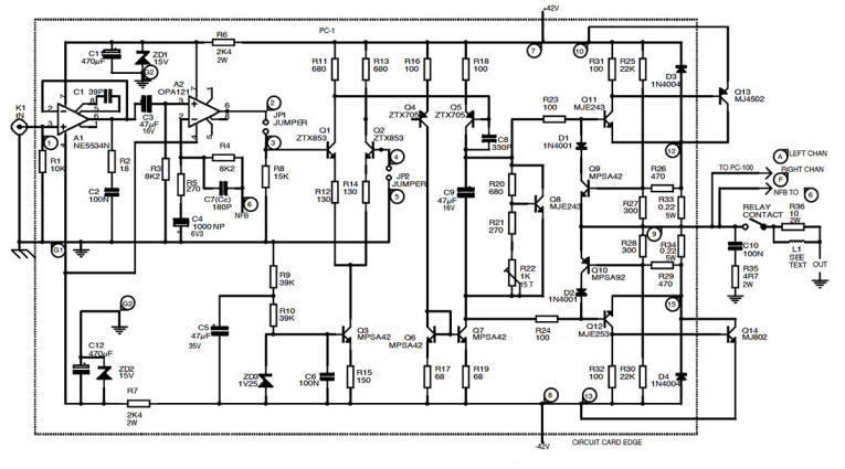 super circuit diagram simple 50w electronic amplifier