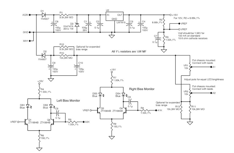 A Simple LED Bias Meter and Supply for the Dynaco ST70 and