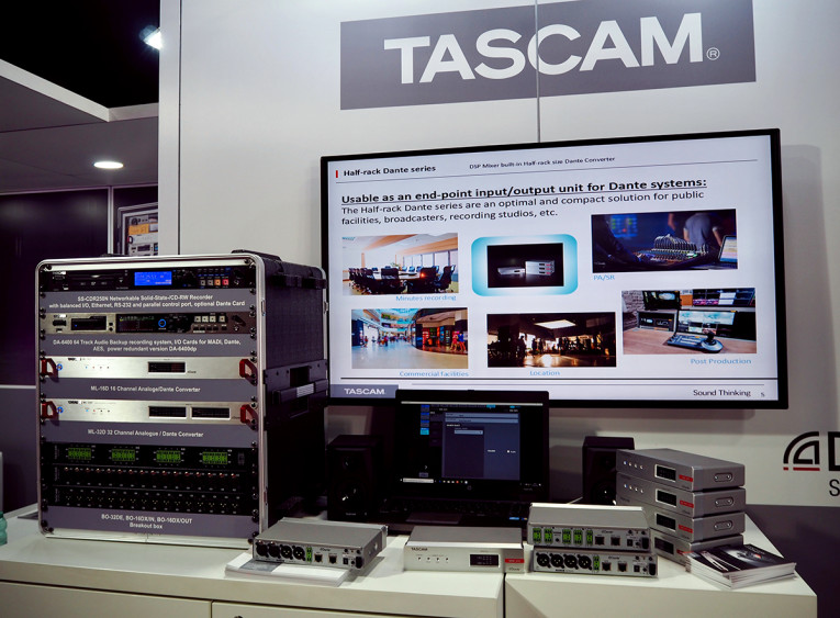 Tascam Offers Expanded Range of Dante-Enabled Solutions