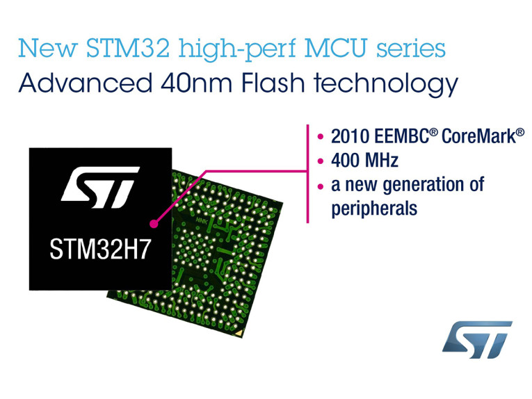 STMicroelectronics Introduces STM32H7 MCU Series with Increased