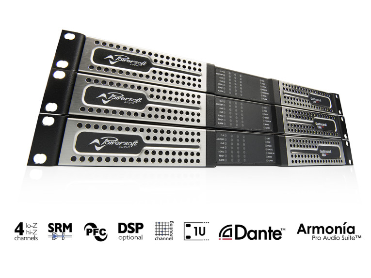 Powersoft Launches new Quattrocanali Series Amplifiers at
