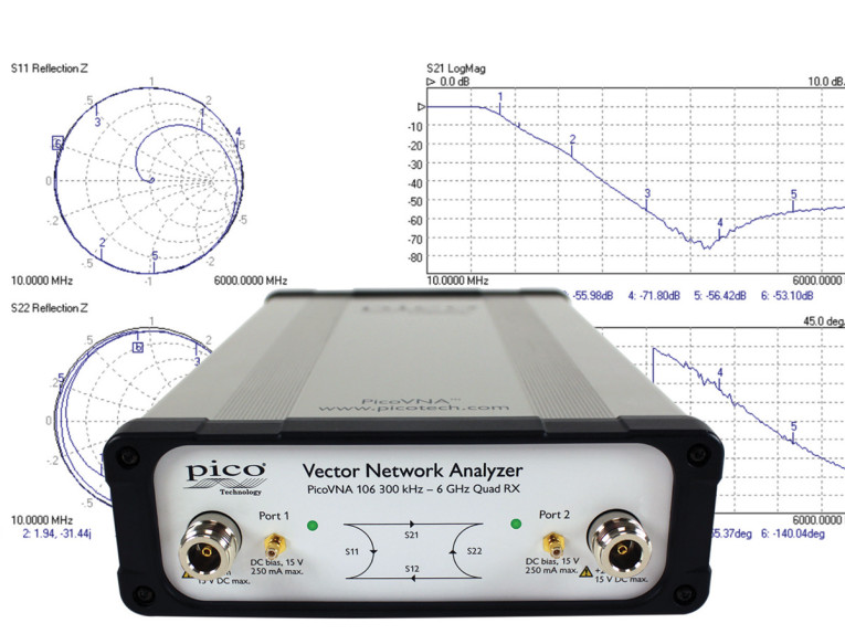 Pico Technology Introduces PicoVNA 106 Low-Cost Vector Network