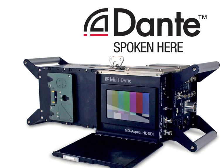 MultiDyne Integrates Dante Audio over IP Networking into