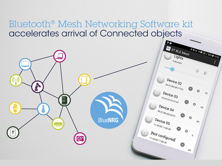 STMicroelectronics Introduces BlueNRG-MESH Bluetooth Mesh
