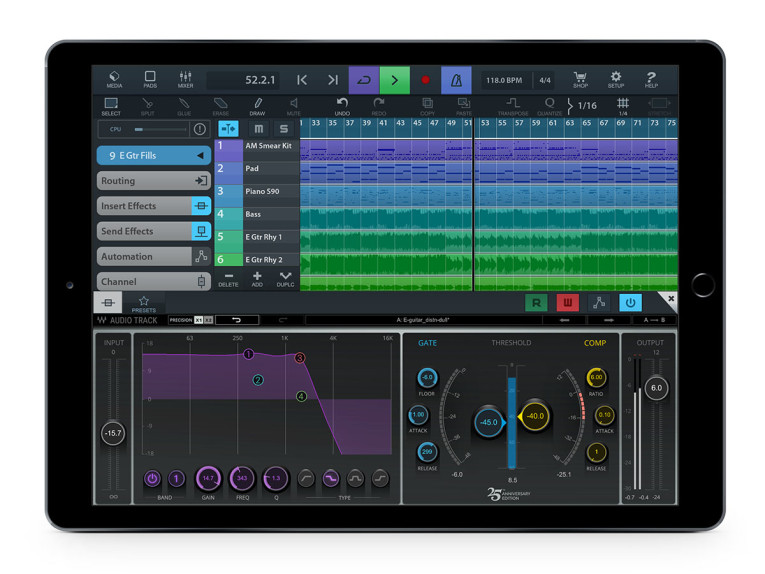 Steinberg Launches Cubasis 2 3 for iOS Now Supporting Waves Plug-ins