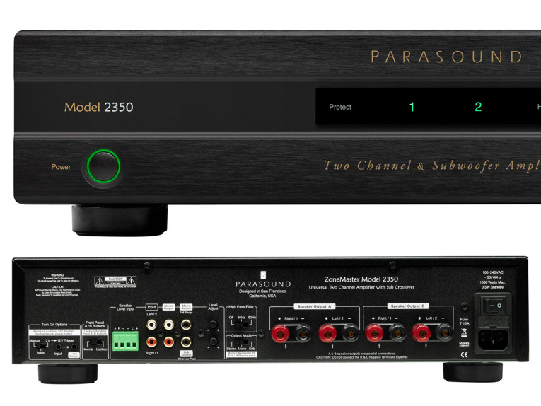 Parasound Introduces ZoneMaster 2350 Class D Stereo