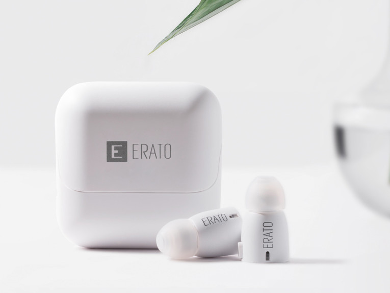 a5d596391ab ERATO has successfully developed the world's smallest true wireless earbuds  with built-in microphone for complete voice functionality alongside premium  ...