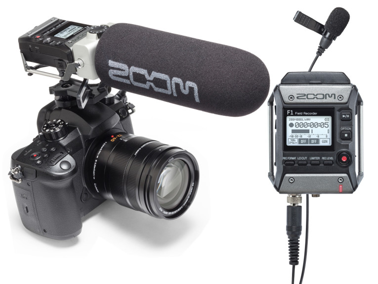 Zoom Launches F1 Field Recorder and Mic Systems for Video