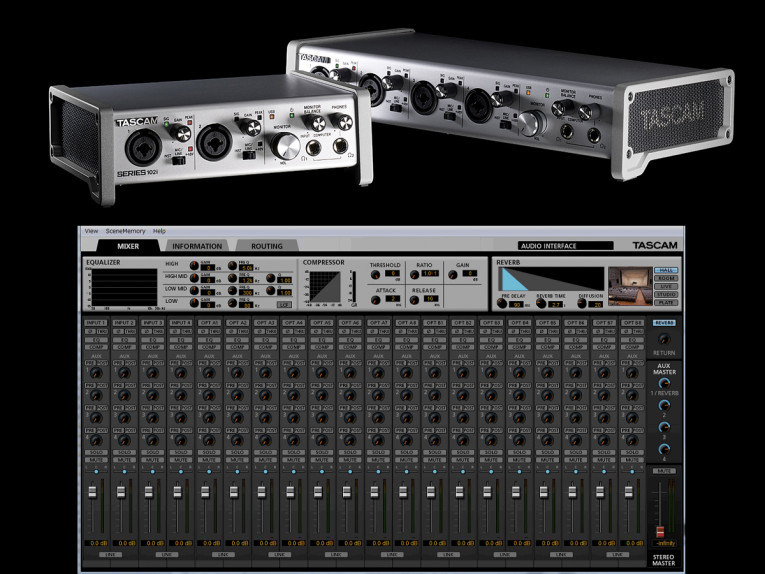 tascam unveils new series usb audio midi interfaces with built in dsp audioxpress. Black Bedroom Furniture Sets. Home Design Ideas