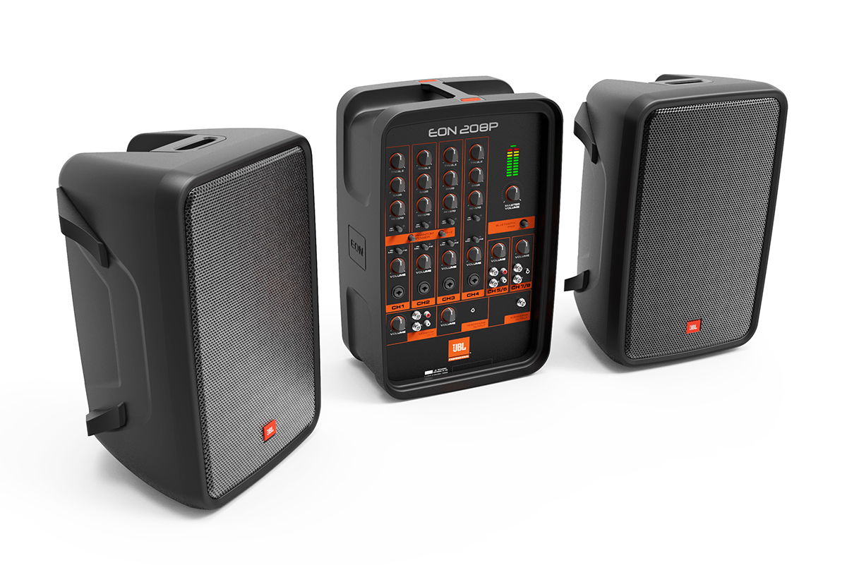 jbl professional introduces new eon208p portable pa system and eon618s powered subwoofer at. Black Bedroom Furniture Sets. Home Design Ideas