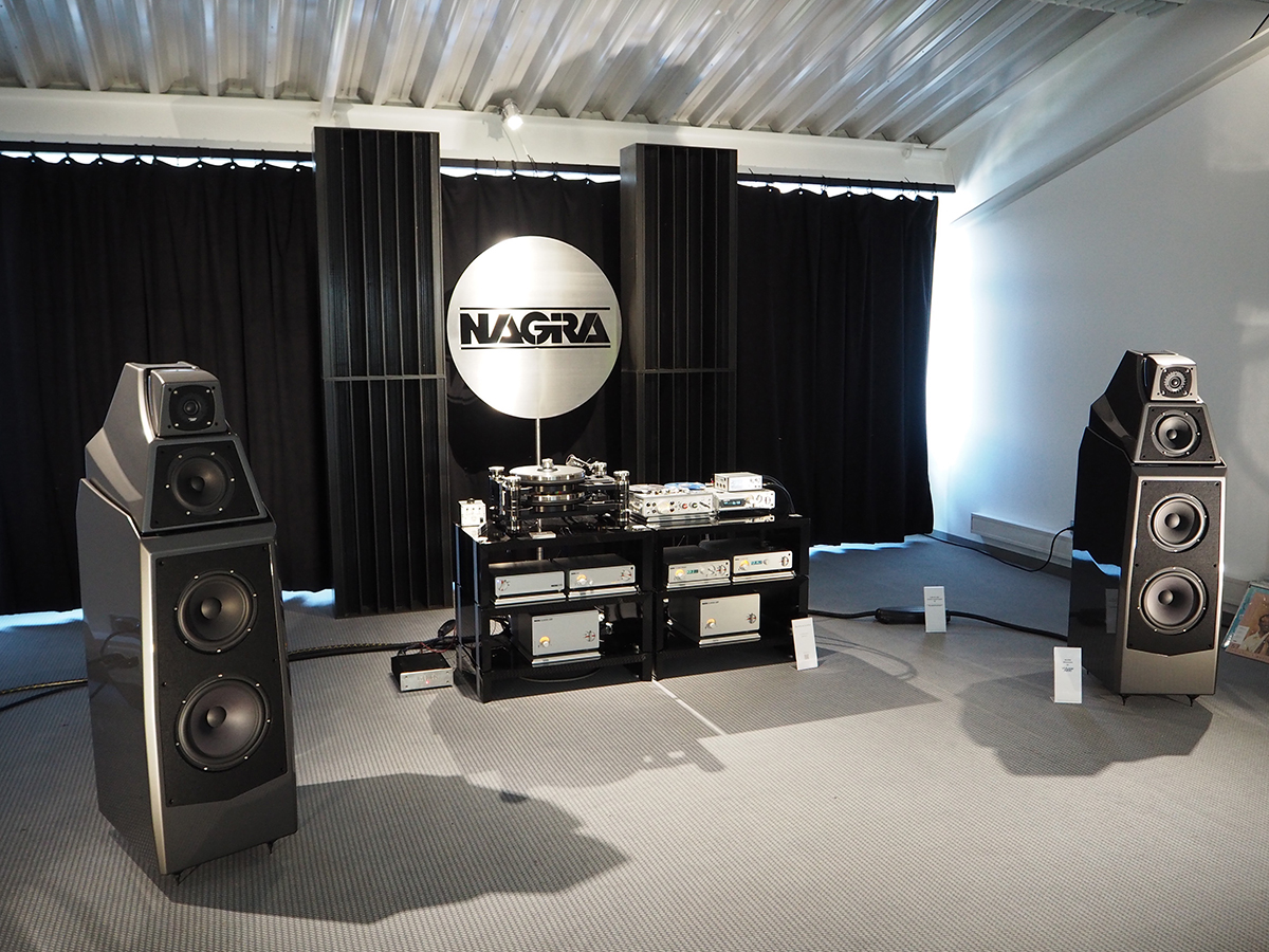 The complete Nagra setup at the High End 2016 show playing on the remarkable Wilson Audio Alexia speakers.