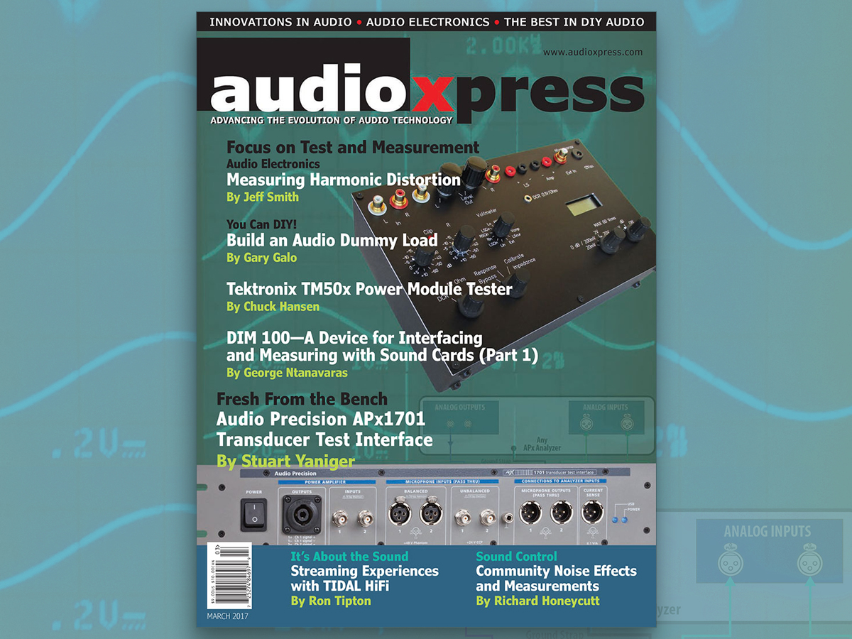 audioXpress March 2017, Focus on Test and Measurement, Now