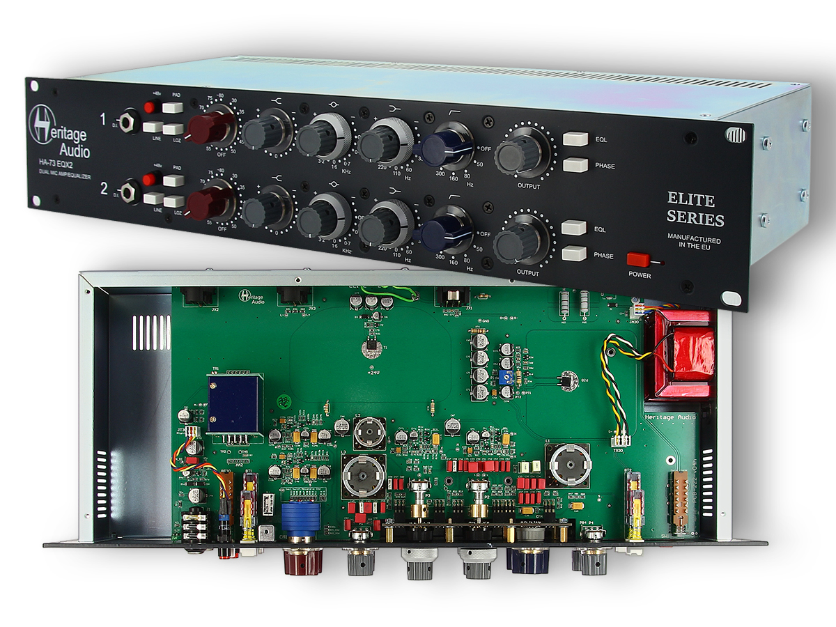 Heritage Audio Launches Ha 73 Eqx2 Dual Mic Amp Equalizer Audioxpress Low Noise Amplifier Circuit