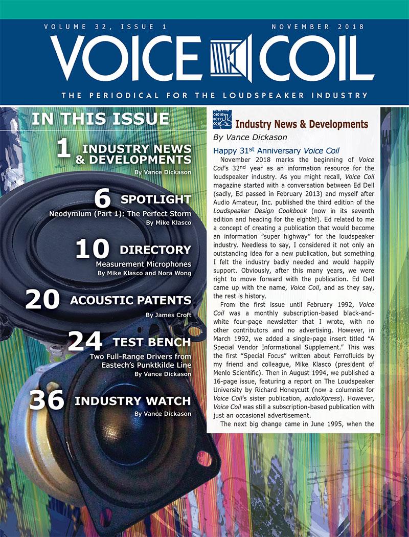 Voice Coil November 2018