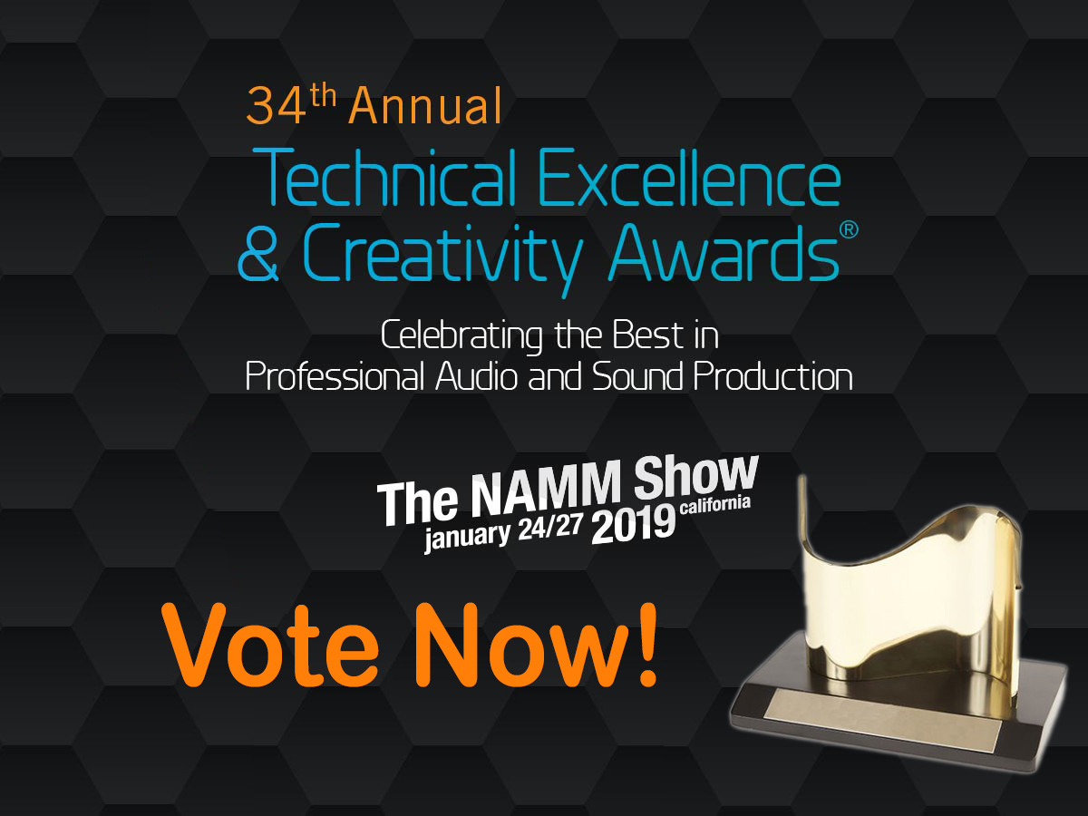 Voting for the 34th Annual NAMM TEC Awards Is Now Open! | audioXpress