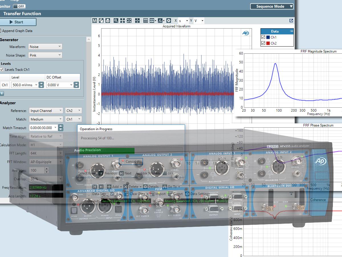 Audio Precision Releases APx Software Version 5 0 Adding