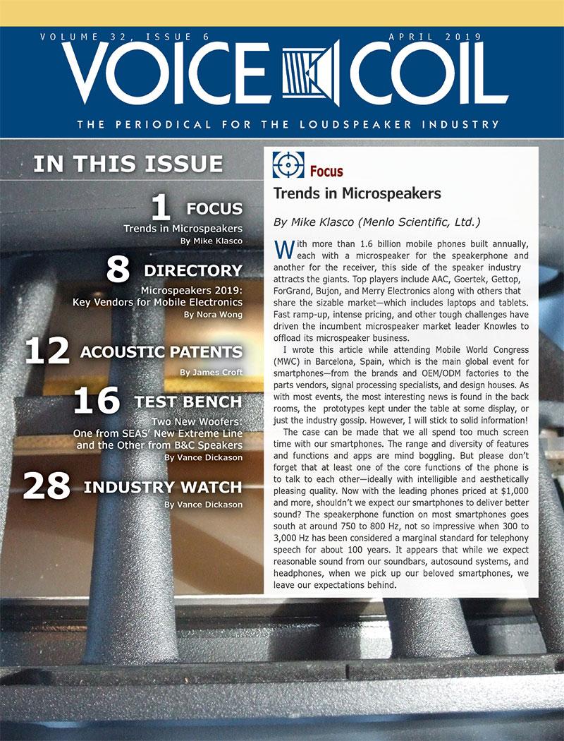 Voice Coil April 2019